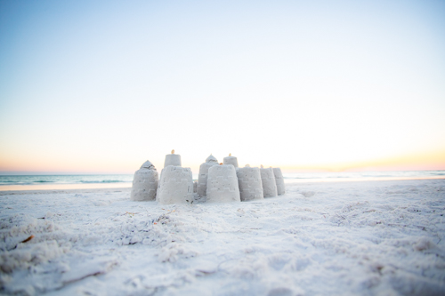 art prints - Sandcastle Sunset by Janet Cruz