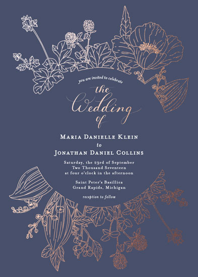wedding invitations - Foil Florals by Juliana Nahas