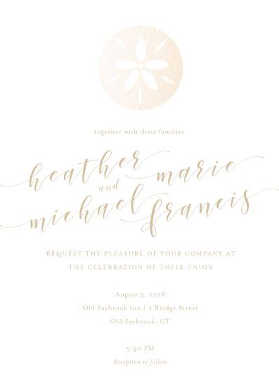 wedding invitations - Sand Dollar by Danielle Ellan