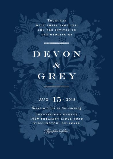 wedding invitations - Floral screenprint by Jennifer Wick