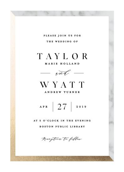 wedding invitations - Marble Marriage by Carolyn MacLaren