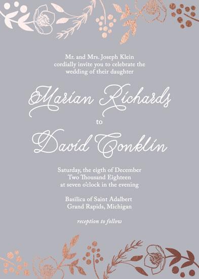 wedding invitations - Framed Foliage by Juliana Nahas