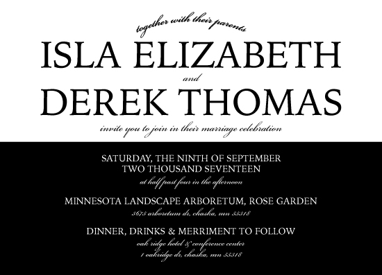wedding invitations - A Black Tie Affair by Melanie Winters