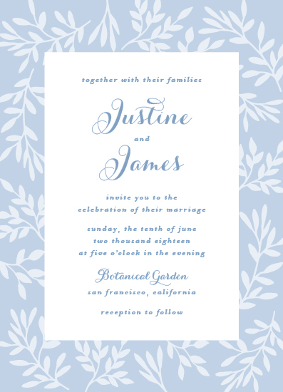 wedding invitations - Simple Leaves by AS Designs