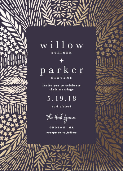 wedding invitations - gilded garden by Olivia Raufman