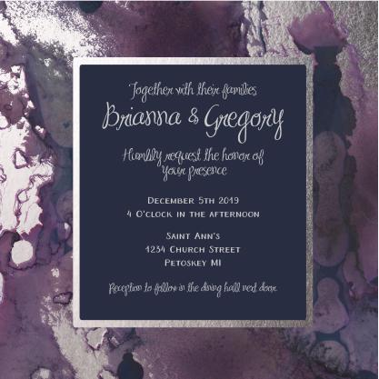 wedding invitations - Inked and Blotted by Theresa Dryer