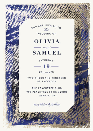 wedding invitations - Elegant Brush strokes by iamtanya