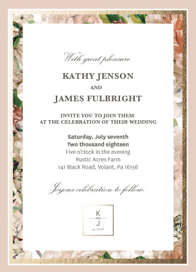 wedding invitations - Floral Gold by Krisna Poznik