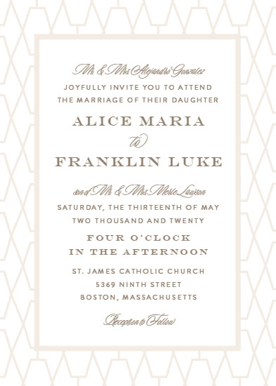 wedding invitations - Geometric Lattice by Amy Payne