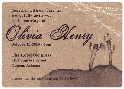 wedding invitations - Fiesta para dos by John Henry