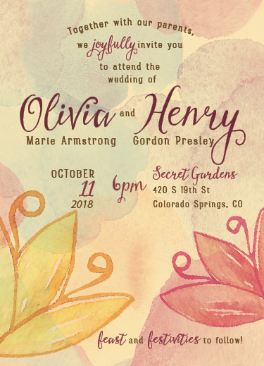 wedding invitations - Among the bloom. by John Henry