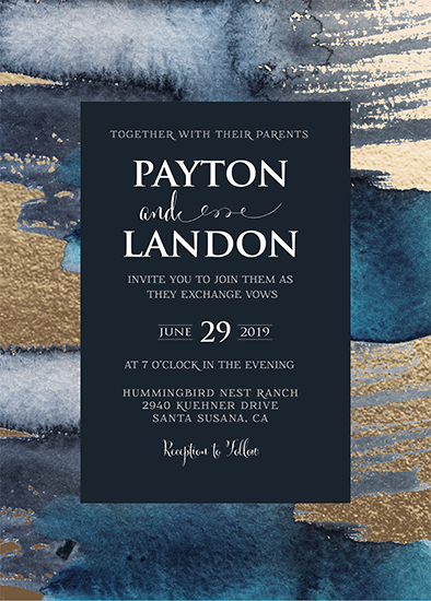 wedding invitations - Shimmer Elegance by Kathy Par