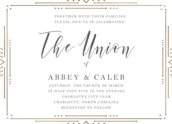 wedding invitations - Deco Flair Frame by Alethia Frye