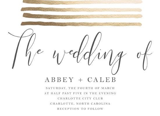 wedding invitations - Fresh Bold Lines by Alethia Frye