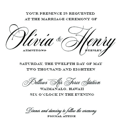 wedding invitations - A distinguished affair. by John Henry