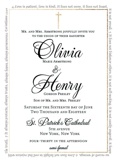 wedding invitations - Love is... by John Henry