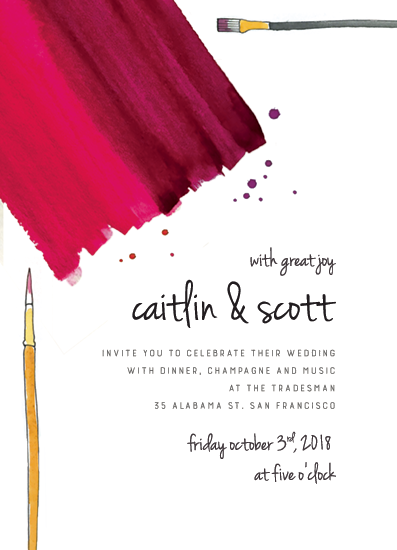 wedding invitations - Painting Together by Caitlin Winner