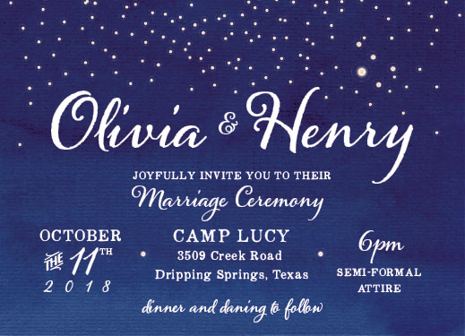 wedding invitations - Starlight enchantment by John Henry