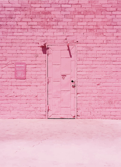art prints - The Pink Door by Jenna Gibson