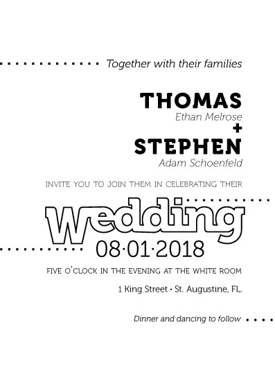 wedding invitations - Black White and Airy by Debbie Quist