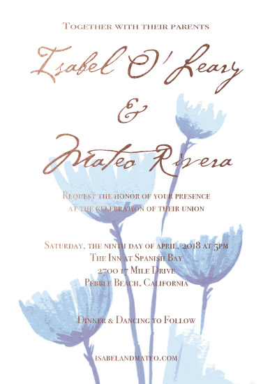 wedding invitations - Blue Bouquet by Amy Solaro