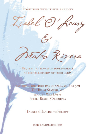 wedding invitations - Blue Flower by Amy Solaro