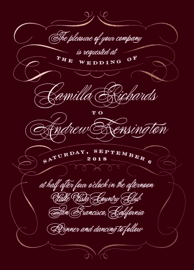 wedding invitations - Old Time Love by Wildbrook Press