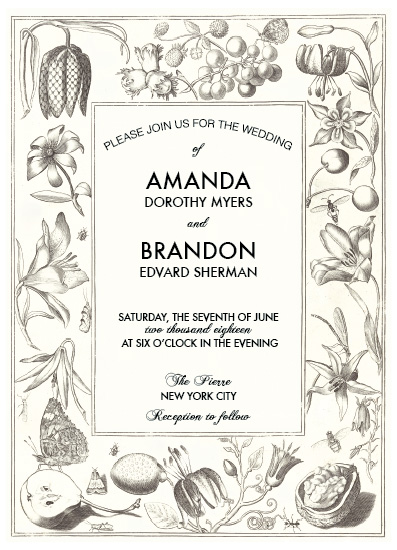 wedding invitations - Elegant Nature Wedding Invitation by Aleksandra Vujkov