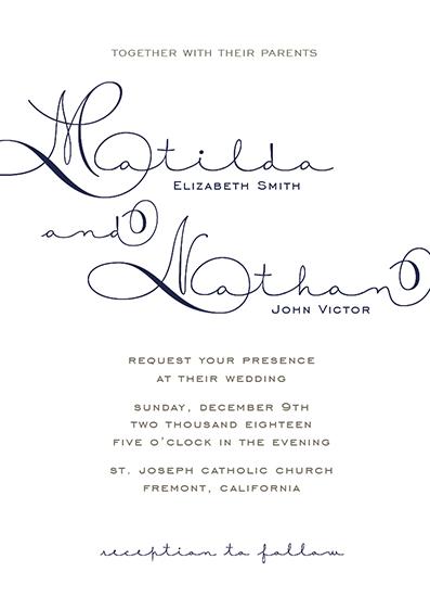 wedding invitations - Written Love by Carlota Suaco