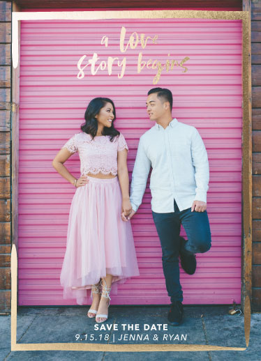 valentine's day - A Love Story Save The Date by Savvy Collective