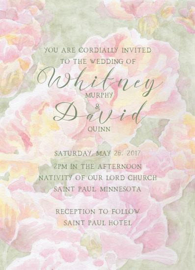 wedding invitations - Pink Peony Love by Karen Ritz