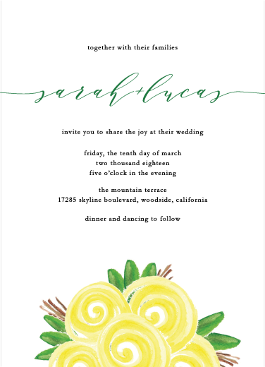 wedding invitations - Be in flower by Aristophanes