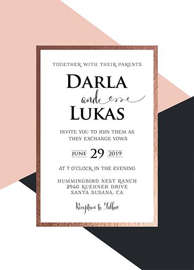 wedding invitations - Geometric Wedding Love by Kathy Par