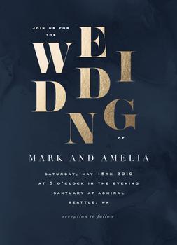 bold wedding
