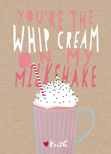 valentine's day - whipcream on my milkshake by Keith Benedek
