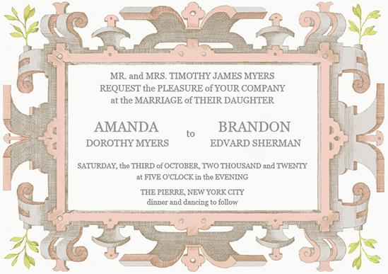 wedding invitations - Powder Pink Wedding Invitation by Aleksandra Vujkov