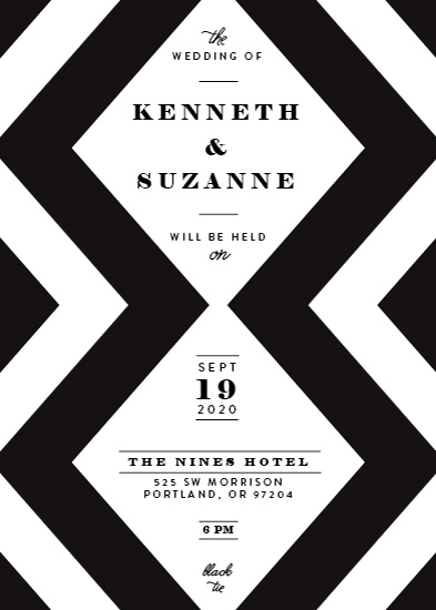 wedding invitations - Chic Chevron by Lisa McLean