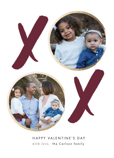 valentine's day - XOXO Foil Family Portrait by Savvy Collective