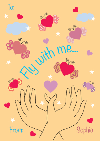 valentine's day - Fly with me by Artichroma Designs