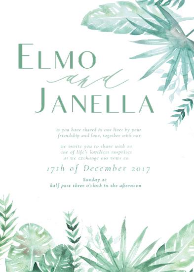 wedding invitations - Fun Foliage by The Artist Scientist