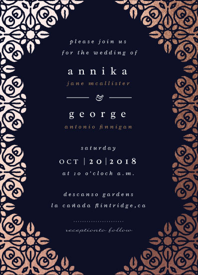 wedding invitations - Foiled Batik by kukkiilabs