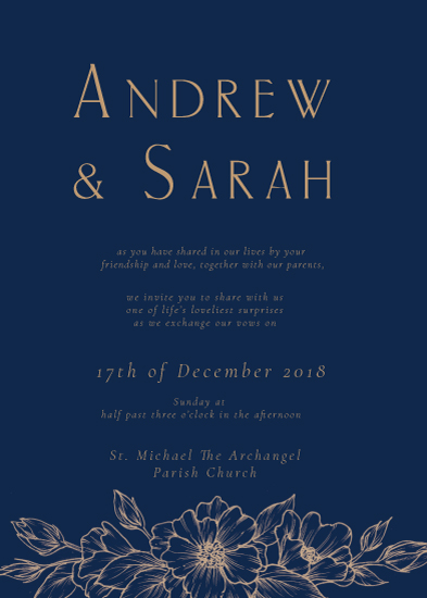 wedding invitations - Luxe Navy Blue by The Artist Scientist