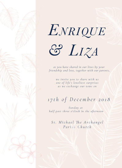 wedding invitations - Intricate & Tropical by The Artist Scientist