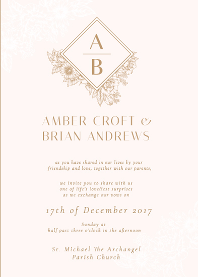 wedding invitations - Blush and Brilliant by The Artist Scientist