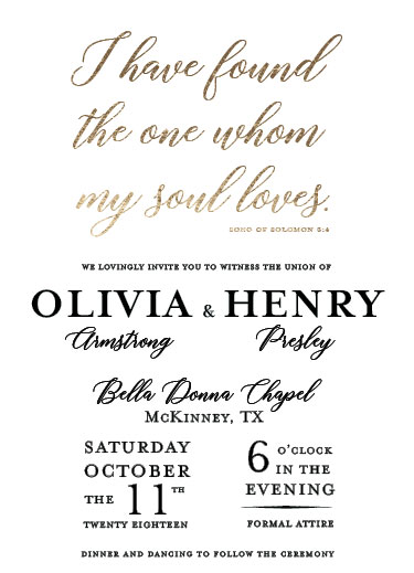 wedding invitations - Found the One. by John Henry