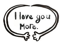 I love you more. by Caitlin Winner