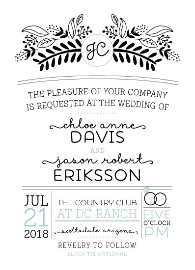 wedding invitations - Floral Infographic by kelly ashworth