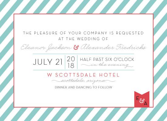 wedding invitations - Casual cabana stripes by kelly ashworth