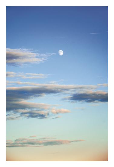 art prints - Sunset Moonlight by Soleil Himmelvid