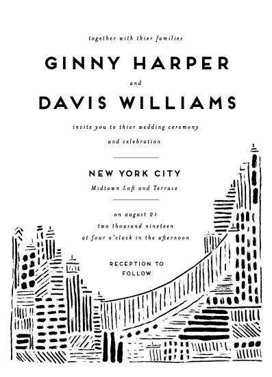 wedding invitations - Love in the City by Shiny Penny Studio